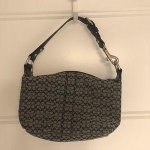 Black and gray Coach Mini bag